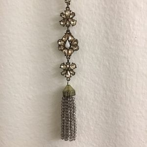 Sugarfix Tassel Pendant Necklace with Crystals